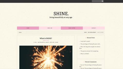 Shine Website Example 1
