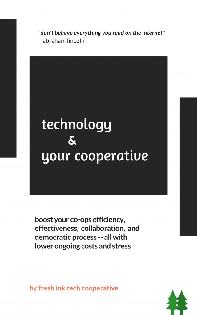 Technology Zine for Cooperatives from Fresh Ink